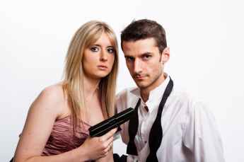 couple dangerous gun man